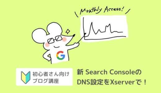 新サーチコンソールDNS設定をXserver(エックスサーバー)でやる方法【Search Console】